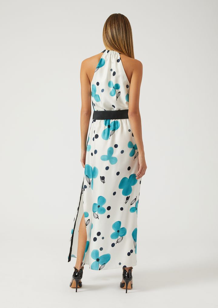 EMPORIO ARMANI Silk floral maxi dress Dress Woman d