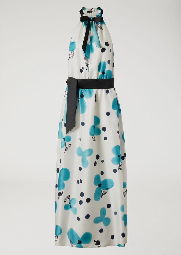 EMPORIO ARMANI Silk floral maxi dress Dress Woman r