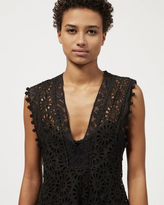 ISABEL MARANT MIDI DRESS Woman KIERRA broderie anglaise dress r