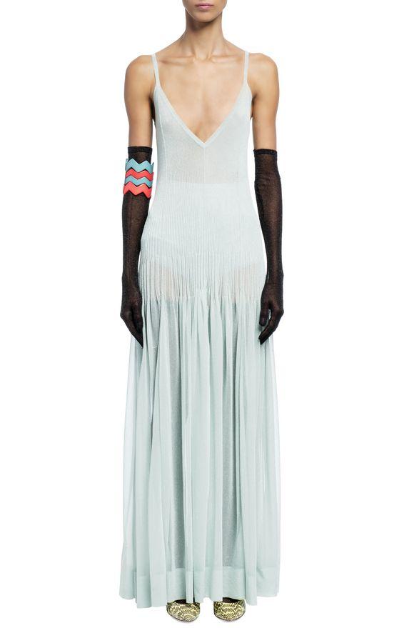 MISSONI Long dress Light green Woman