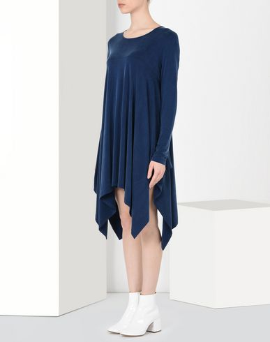MM6 MAISON MARGIELA Short dress Woman Asymmetric draped jersey dress f