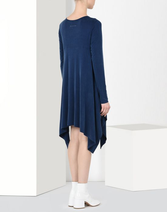 MM6 MAISON MARGIELA Asymmetric draped jersey dress Short dress Woman d