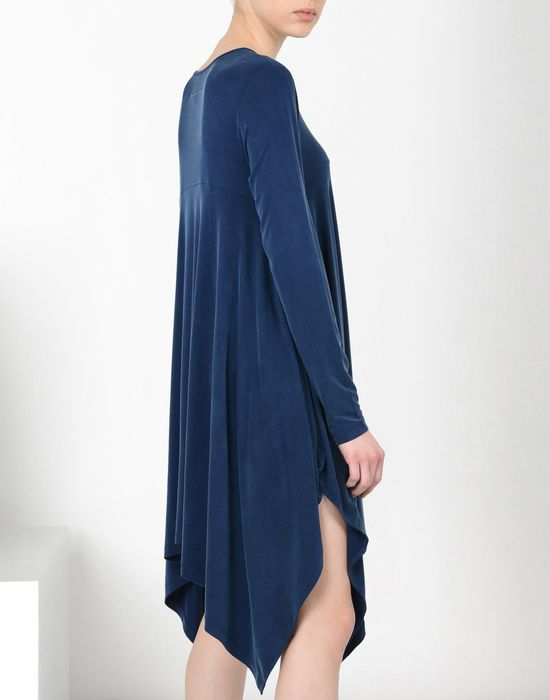 MM6 MAISON MARGIELA Asymmetric draped jersey dress Short dress Woman e