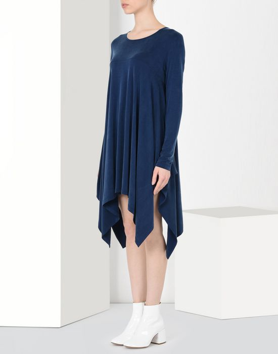 MM6 MAISON MARGIELA Asymmetric draped jersey dress Short dress Woman f