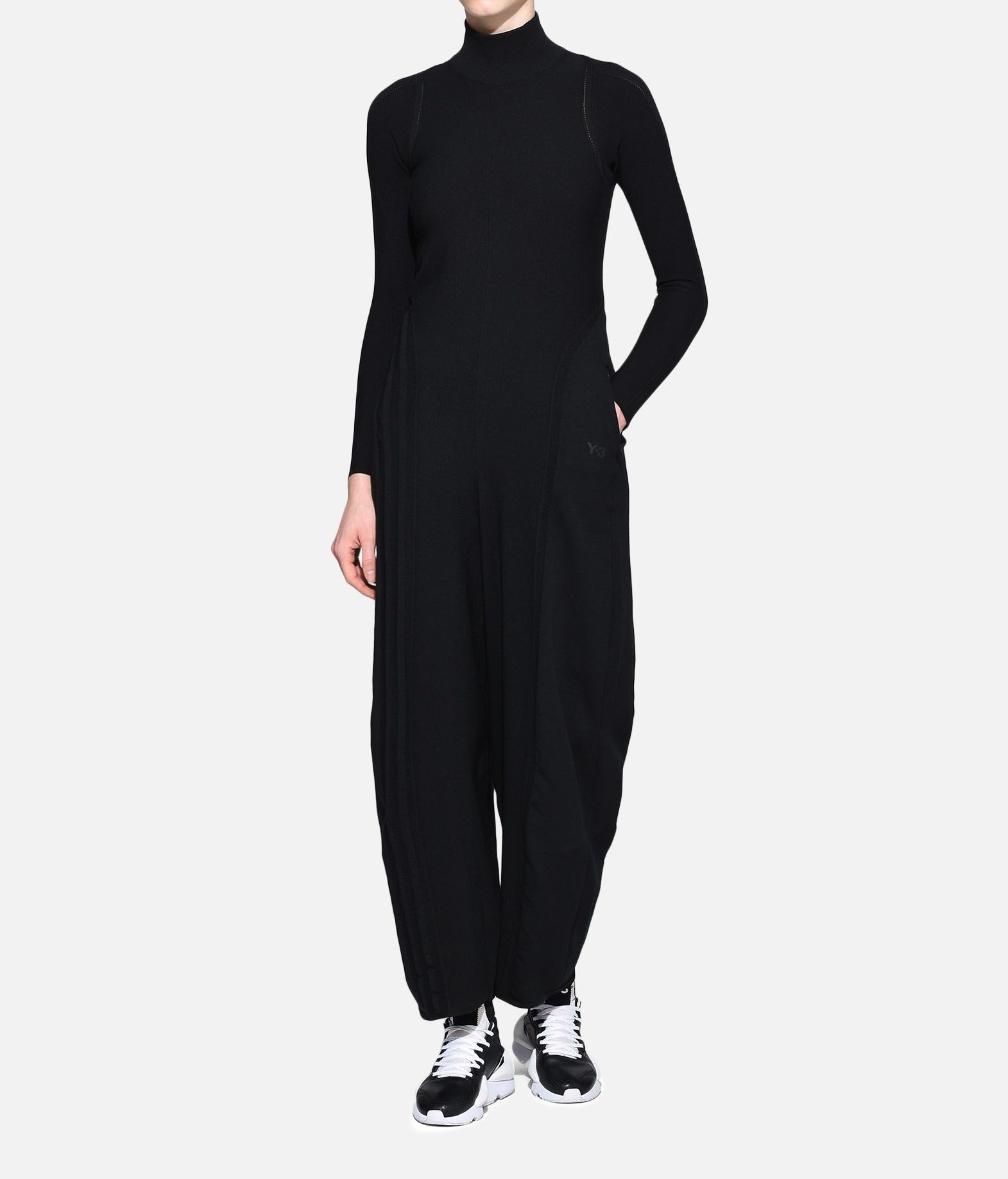 19b2b524a96 Y-3 Y-3 Tech Wool Jumpsuit Overall Woman a ...