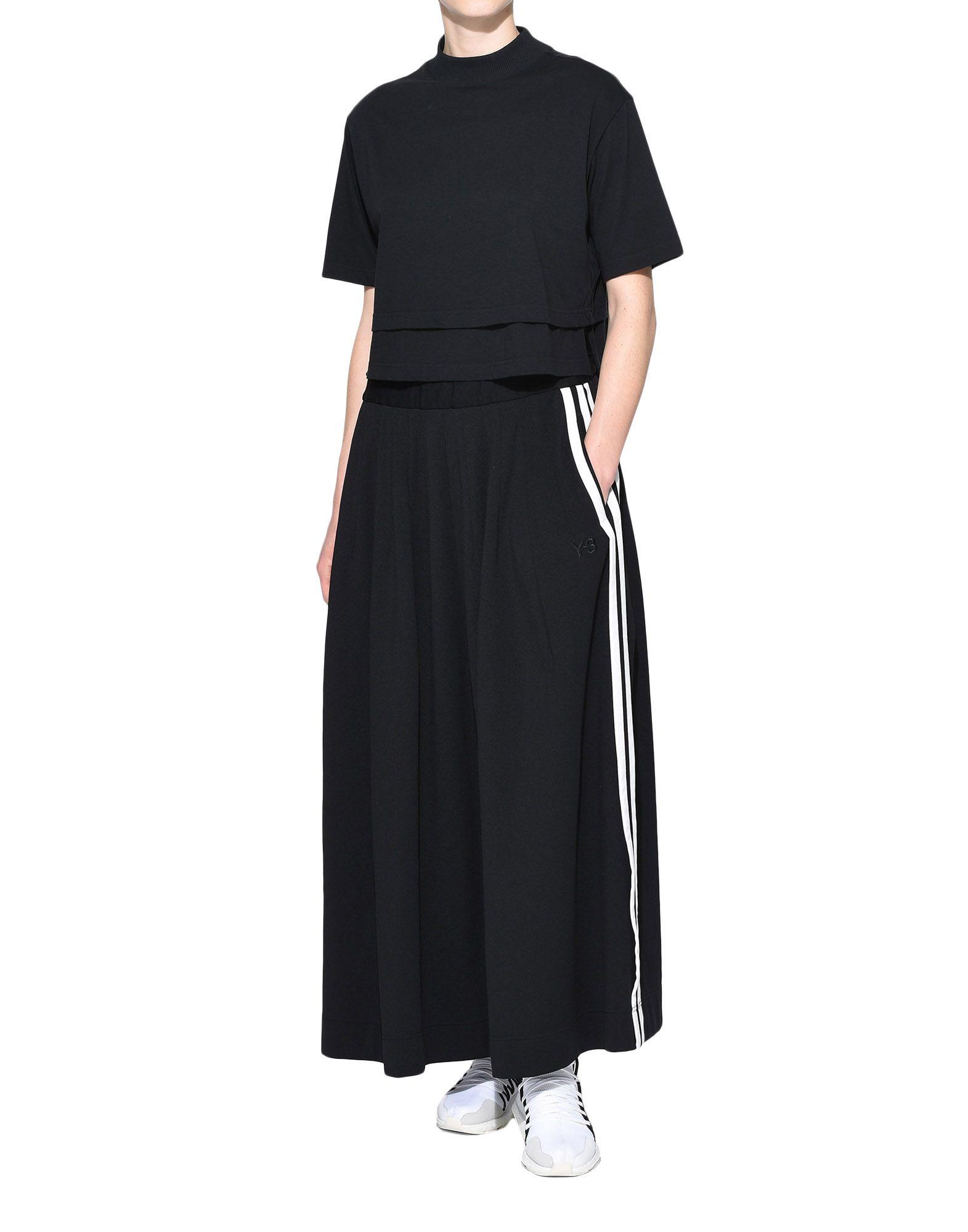 Y-3 Y-3 3-Stripes Selvedge Matte Track Skirt Юбка до колена Для Женщин a