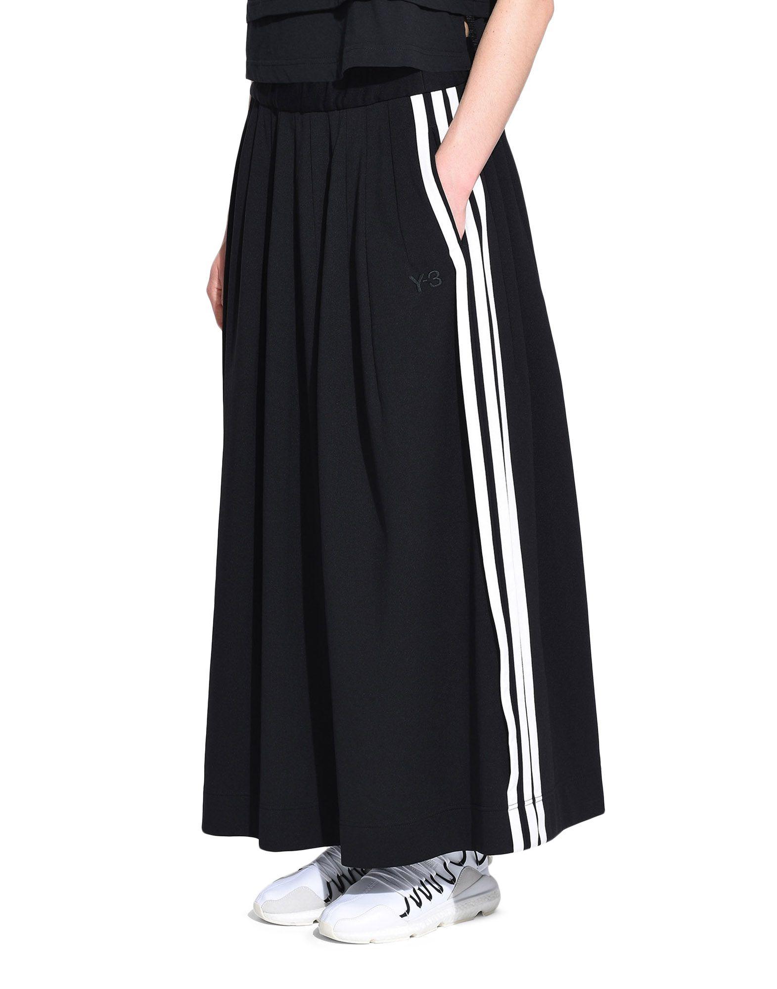 Y-3 Y-3 3-Stripes Selvedge Matte Track Skirt Юбка до колена Для Женщин e