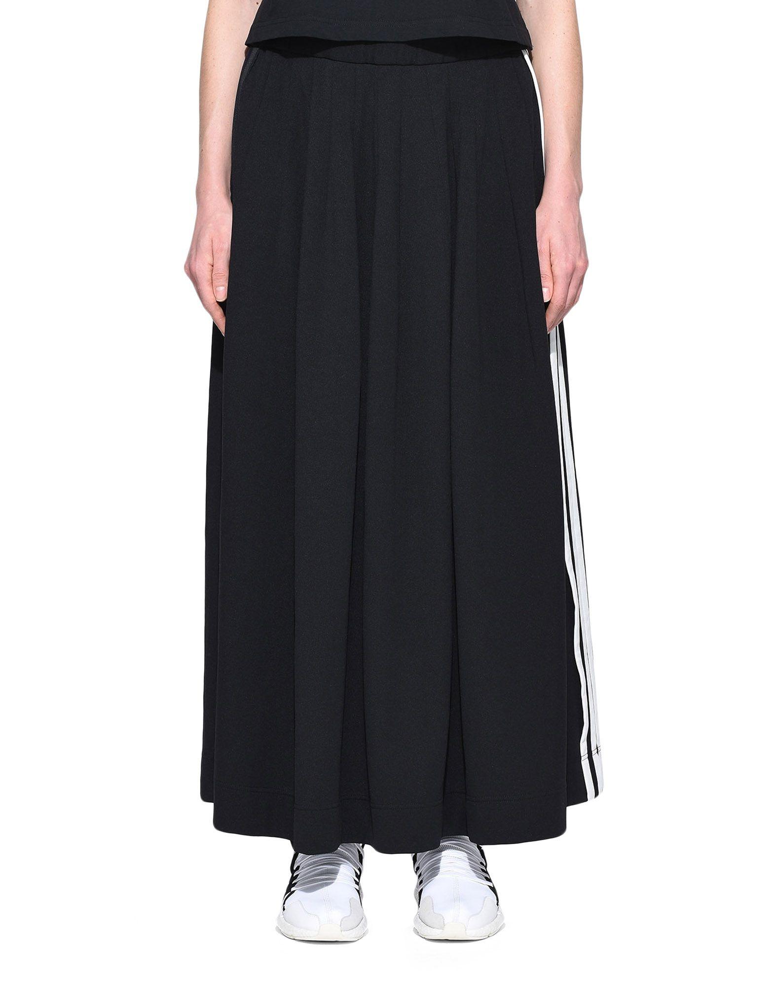 Y-3 Y-3 3-Stripes Selvedge Matte Track Skirt Юбка до колена Для Женщин r