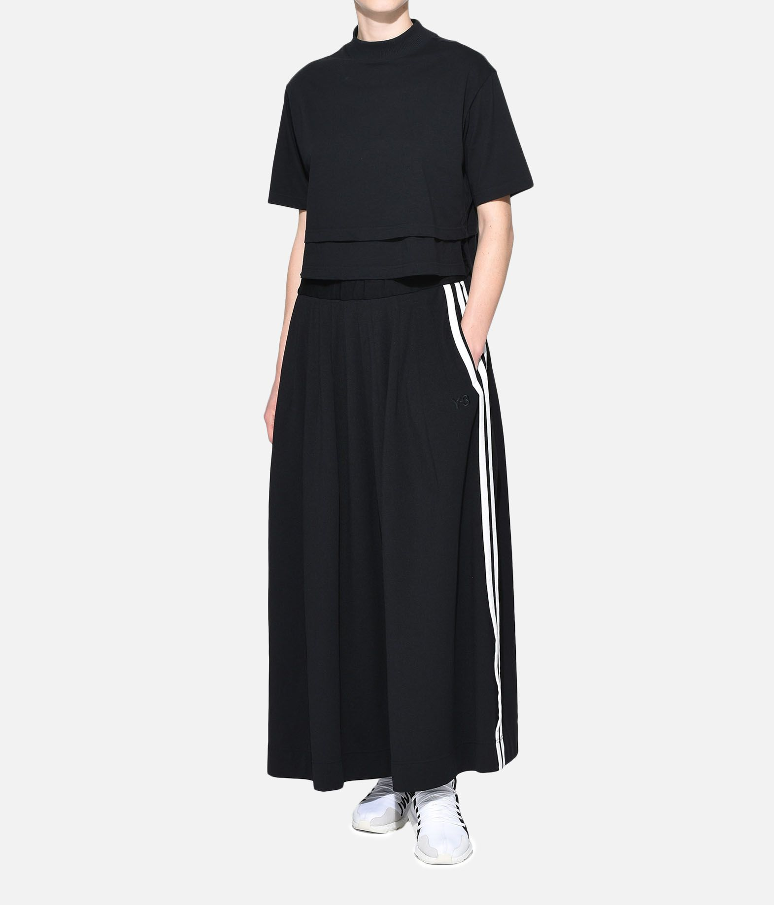 Y-3 Y-3 3-Stripes Selvedge Matte Track Skirt Knee length skirt Woman a