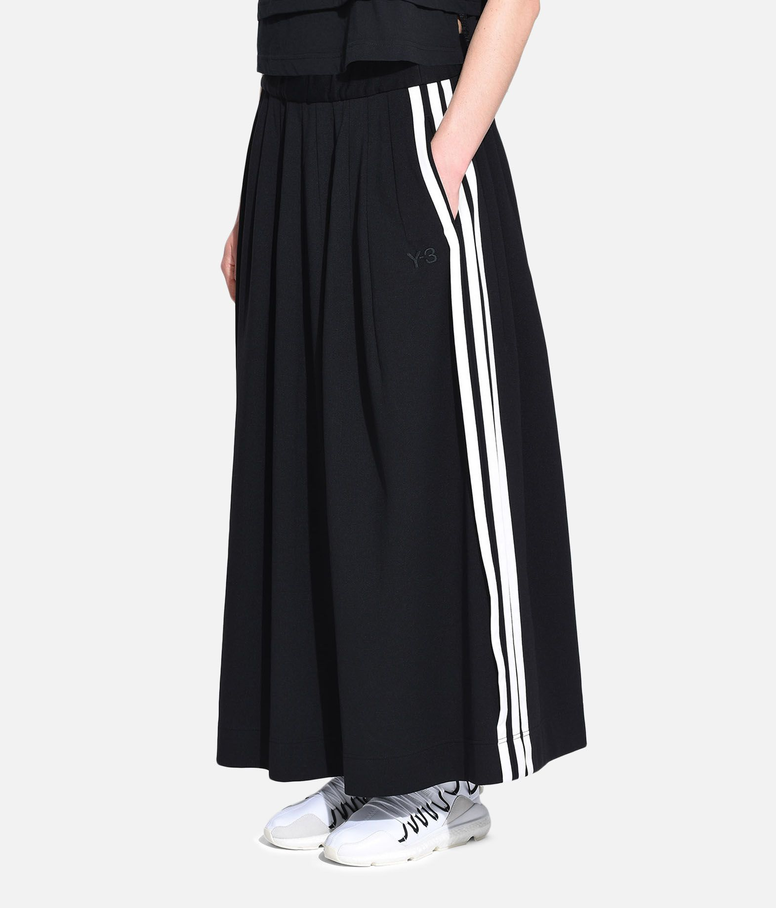 Y-3 Y-3 3-Stripes Selvedge Matte Track Skirt Knee length skirt Woman e