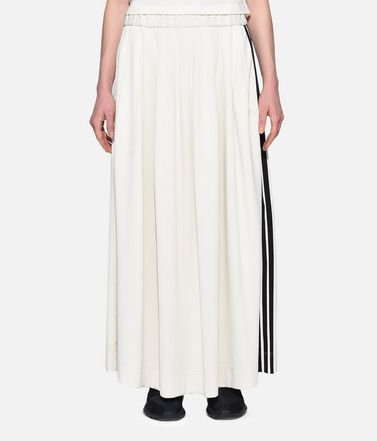 Y-3 ひざ丈スカート レディース Y-3 3-Stripes Selvedge Matte Track Skirt r
