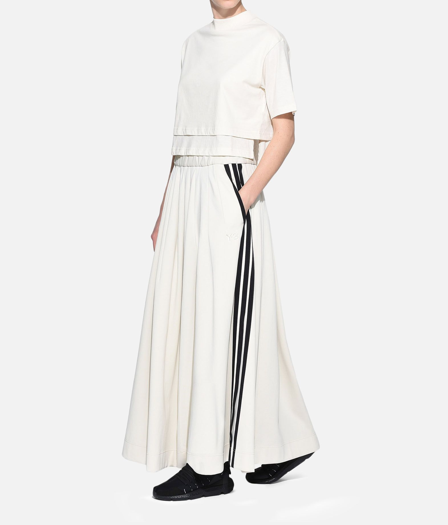 Y-3 Y-3 3-Stripes Selvedge Matte Track Skirt Gonna ginocchio Donna a