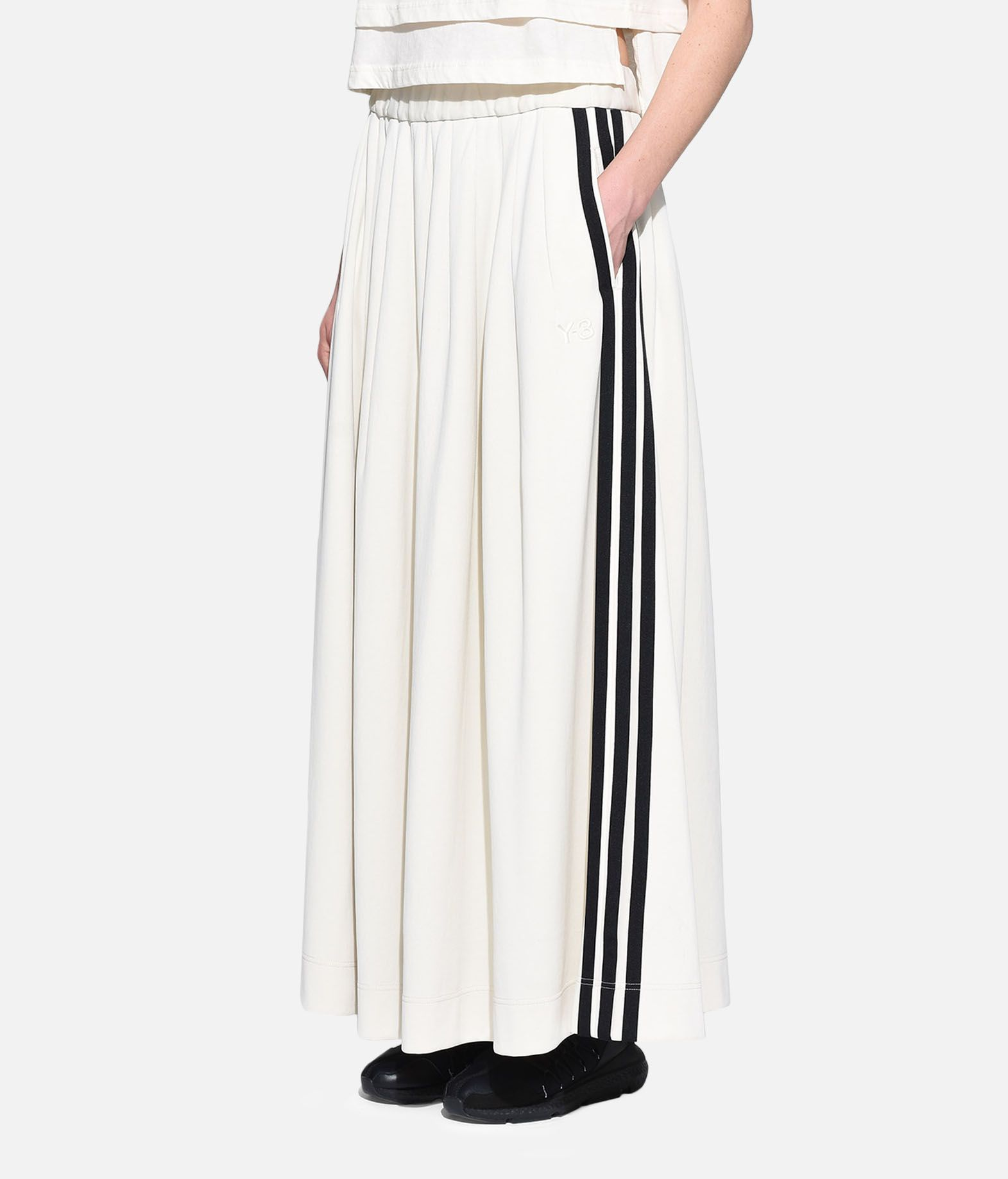 Y-3 Y-3 3-Stripes Selvedge Matte Track Skirt Gonna ginocchio Donna e