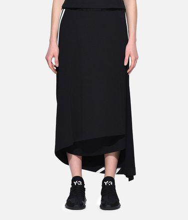 Y-3 Knee length skirt Woman Y-3 3-Stripes Drape Skirt r