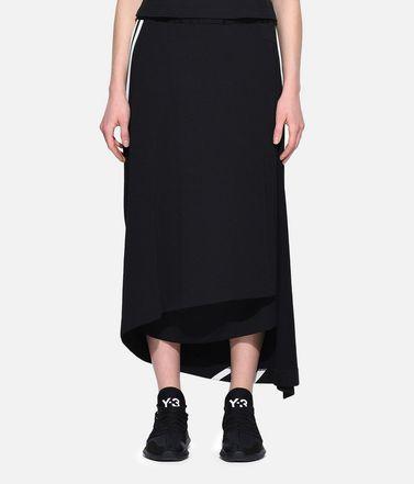 Y-3 ひざ丈スカート レディース Y-3 3-Stripes Drape Skirt r
