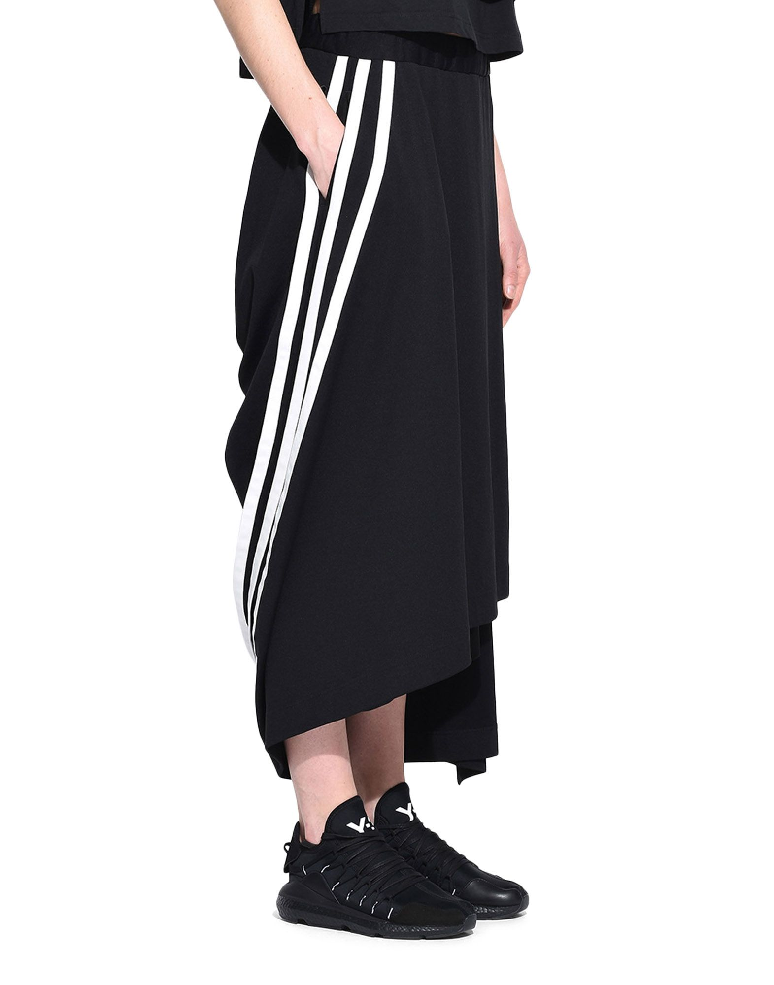 Y-3 Y-3 3-Stripes Drape Skirt Knee length skirt Woman e
