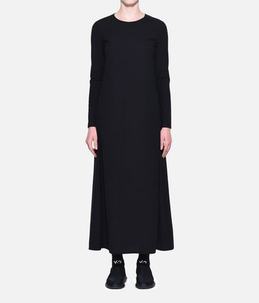 Y-3 Long dress Woman Y-3 Stacked Logo Dress r
