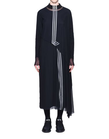 Y-3 Long dress Woman Y-3 3-Stripes Mesh Dress r