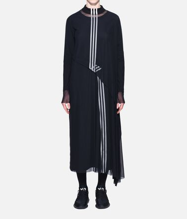 Y-3 Vestito lungo Donna Y-3 3-Stripes Mesh Dress r