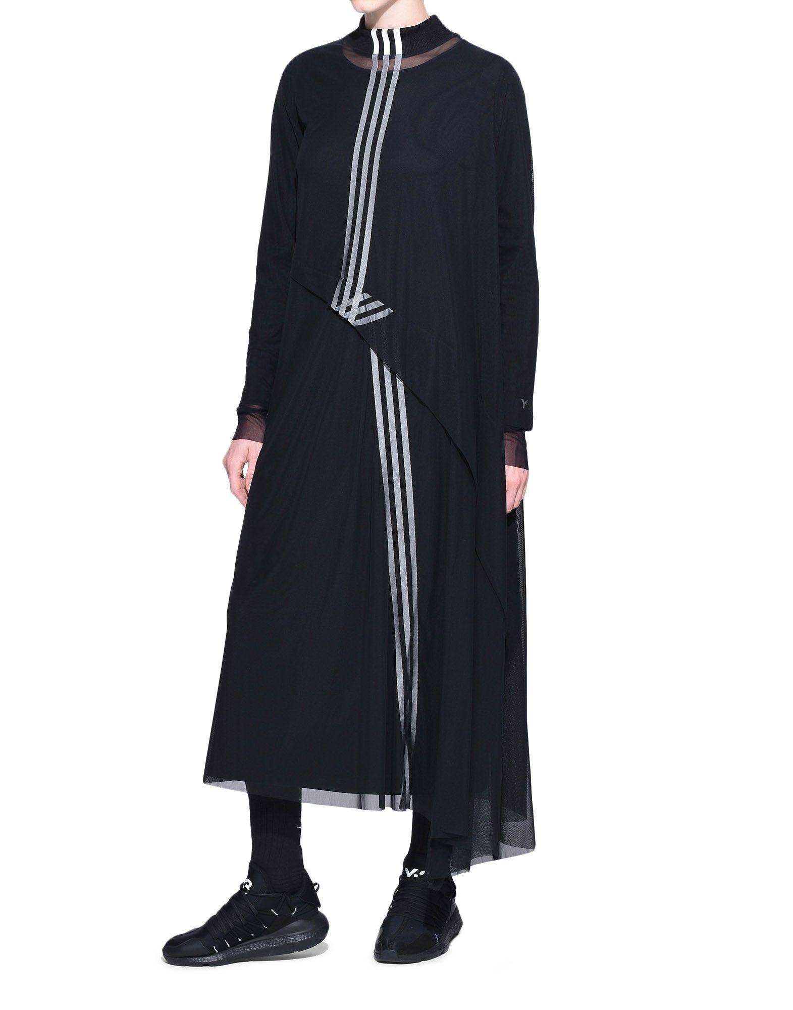 Y-3 Y-3 3-Stripes Mesh Dress Длинное платье Для Женщин a