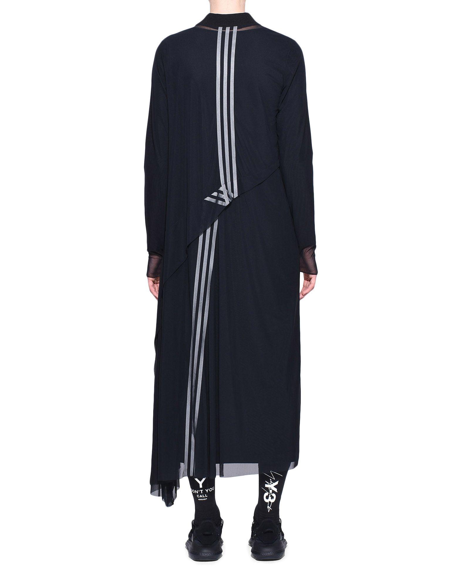 Y-3 Y-3 3-Stripes Mesh Dress Длинное платье Для Женщин d