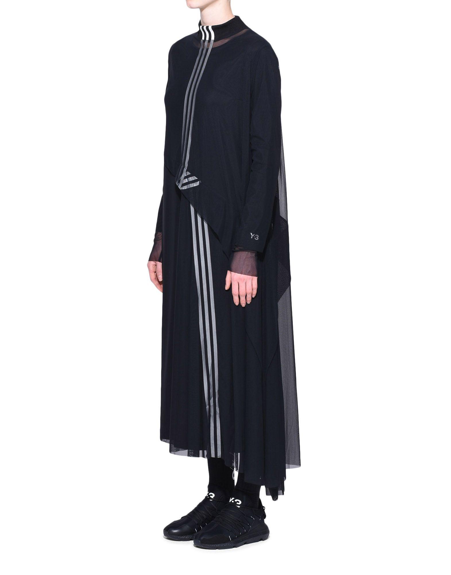 Y-3 Y-3 3-Stripes Mesh Dress Длинное платье Для Женщин e