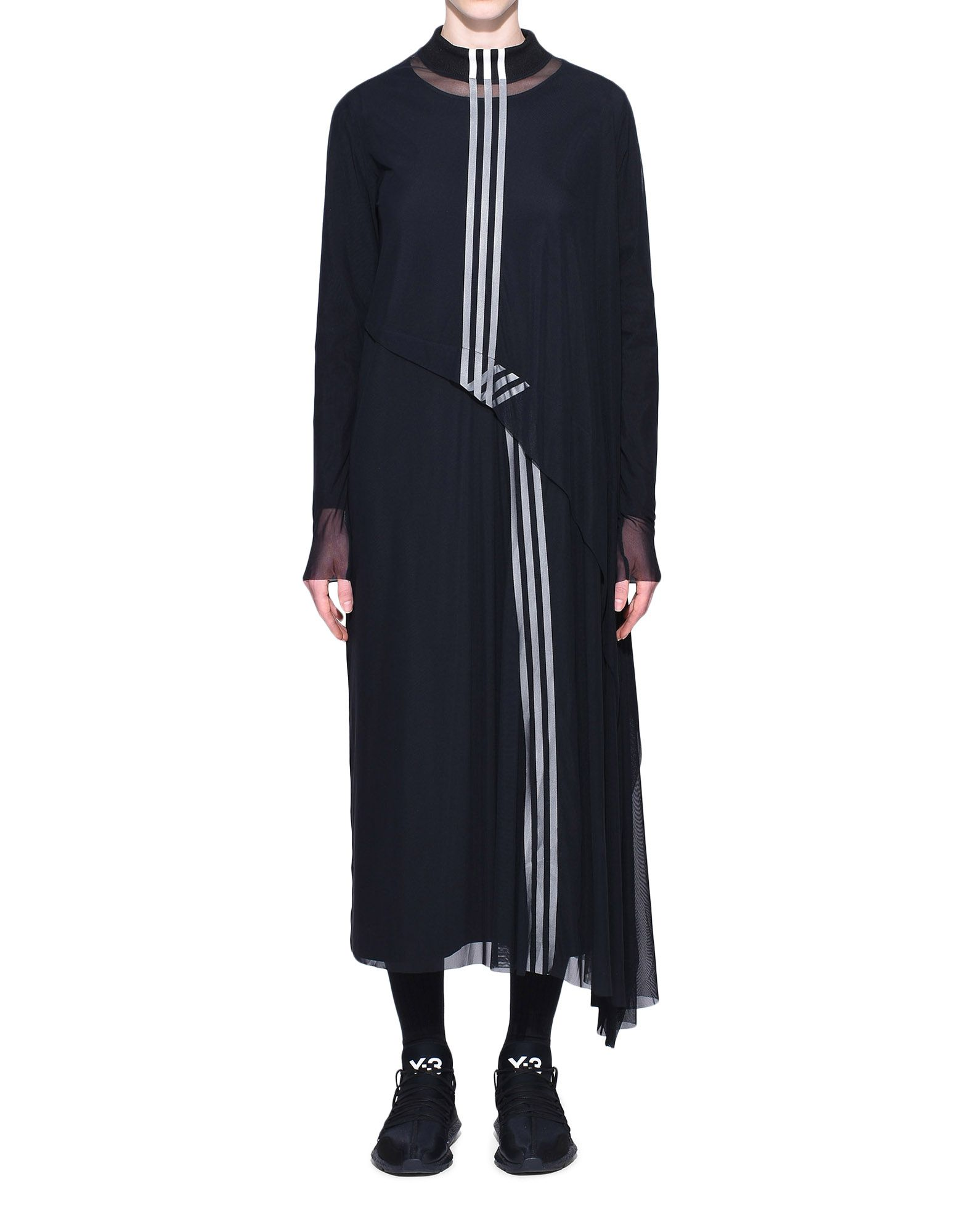 Y-3 Y-3 3-Stripes Mesh Dress Длинное платье Для Женщин r