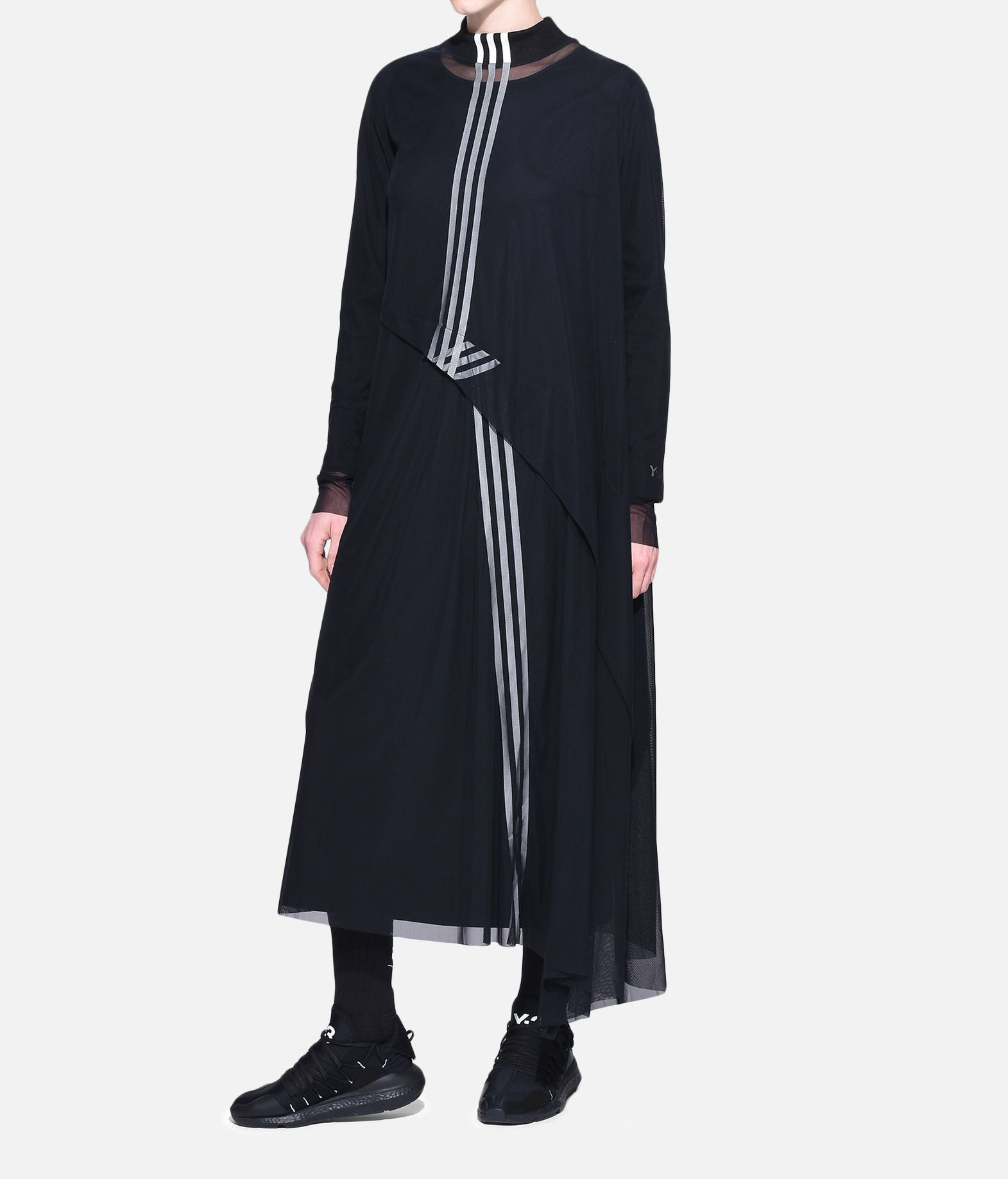 Y-3 Y-3 3-Stripes Mesh Dress Vestito lungo Donna a