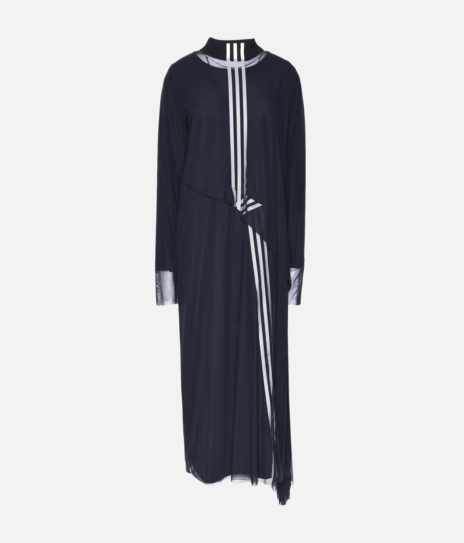 9865769ccb18d ... Y-3 Y-3 3-Stripes Mesh Dress Long dress Woman f ...