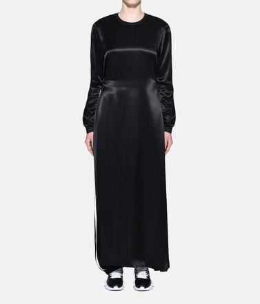 Y-3 Long dress Woman Y-3 3-Stripes Lux Track Dress r