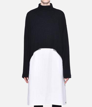 Y-3 Платье длиной 3/4 Для Женщин Y-3 3-Stripes Layered Dress r