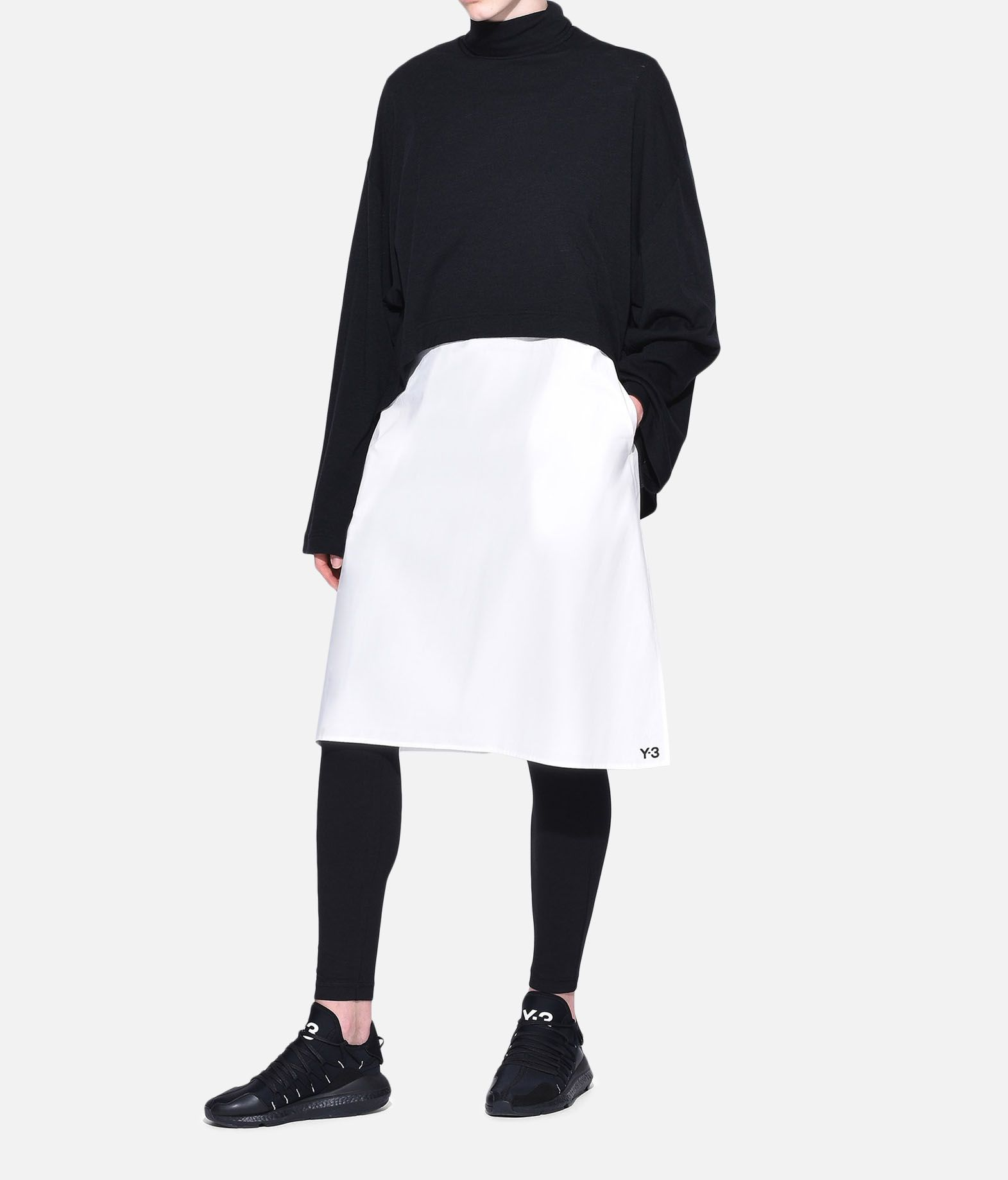 Y-3 Y-3 3-Stripes Layered Dress 3/4 length dress Woman a