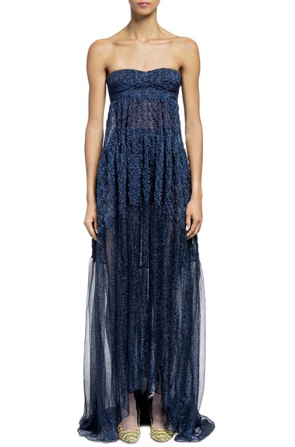 MISSONI Long dress Dark blue Woman - Back