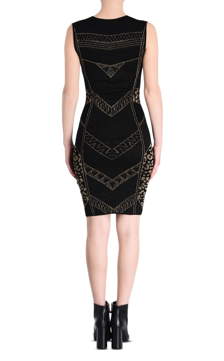 JUST CAVALLI Black and gold sheath dress 3/4 length dress [*** pickupInStoreShipping_info ***] d