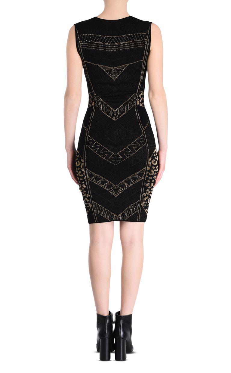 JUST CAVALLI Black and gold sheath dress 3/4 length dress Woman d