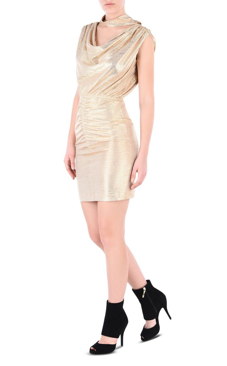 JUST CAVALLI Elegant gold dress Short dress Woman r