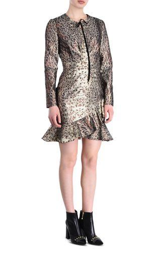 JUST CAVALLI 3/4 length dress [*** pickupInStoreShipping_info ***] Black and gold sheath dress f