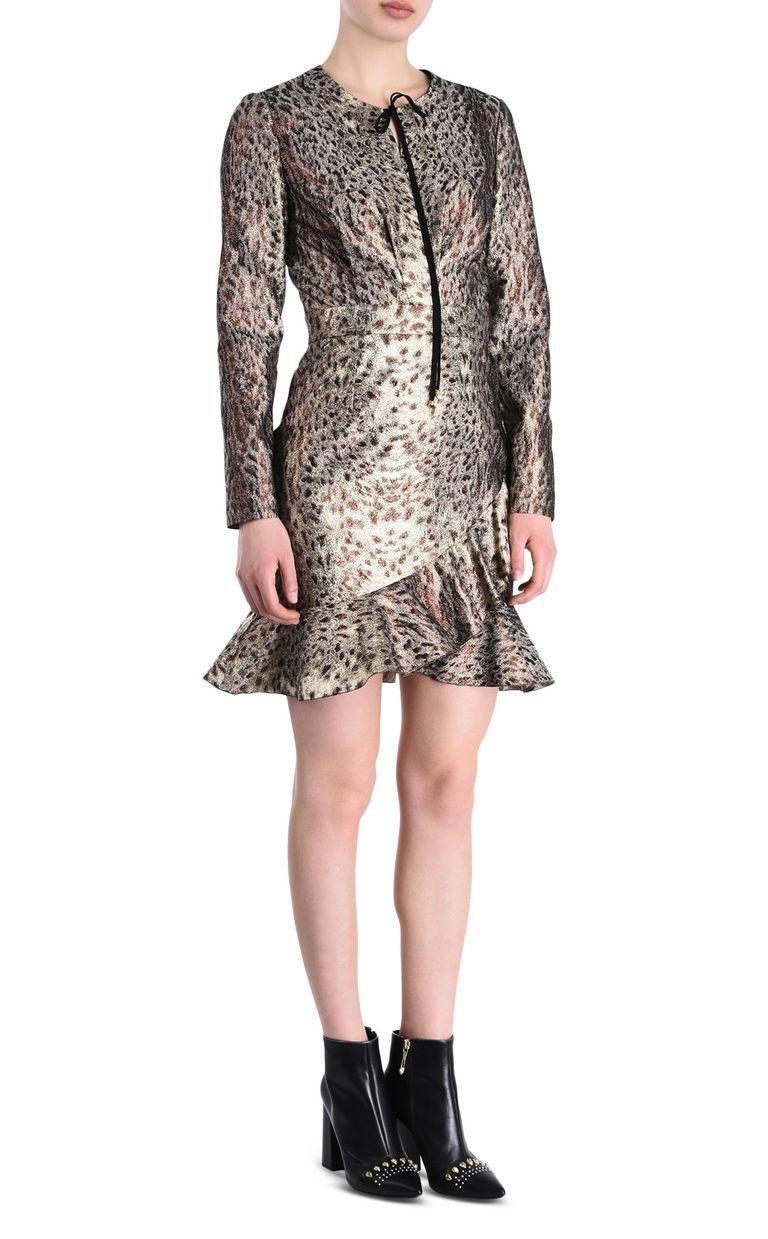 JUST CAVALLI Animal-print mini dress Short dress Woman f