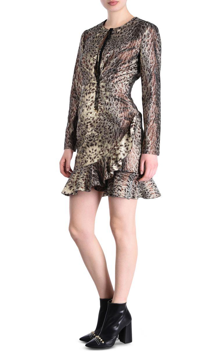 JUST CAVALLI Animal-print mini dress Short dress Woman r