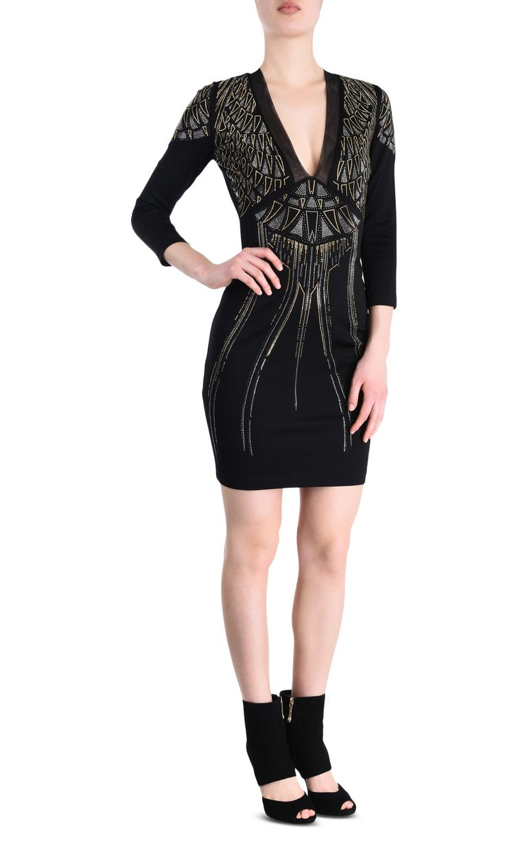 JUST CAVALLI Sheath dress with geometric print Short dress Woman f