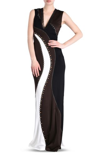 JUST CAVALLI Long dress Woman Compact jersey maxi dress f
