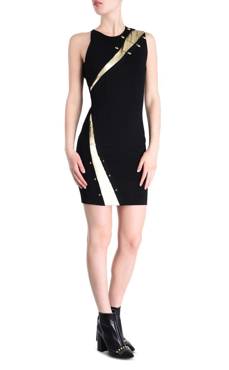 JUST CAVALLI Sheath dress with snake piercings Short dress Woman r