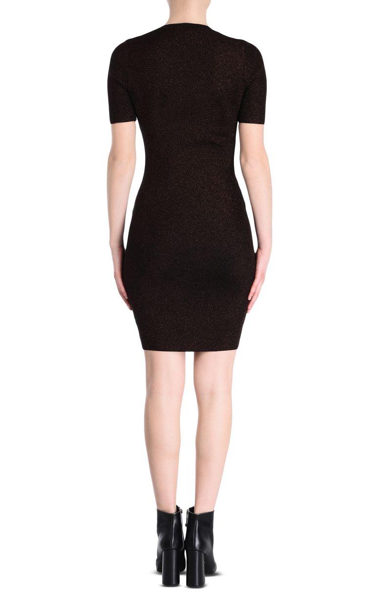 JUST CAVALLI Short-sleeve lurex sheath dress Short dress Woman d