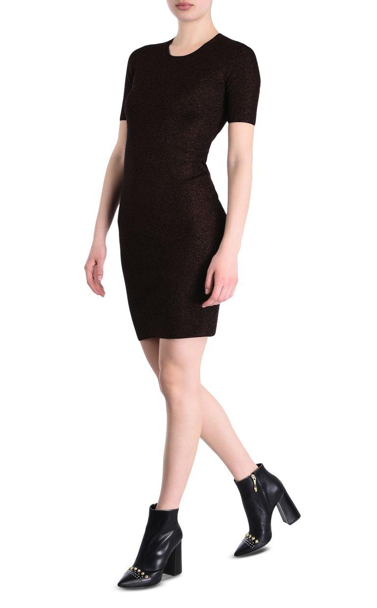 JUST CAVALLI Short-sleeve lurex sheath dress Short dress Woman r