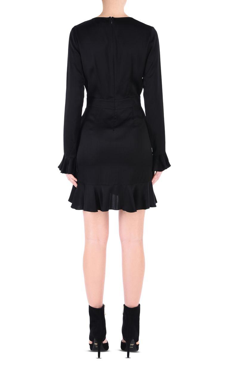 JUST CAVALLI All-black mini dress Short dress Woman d