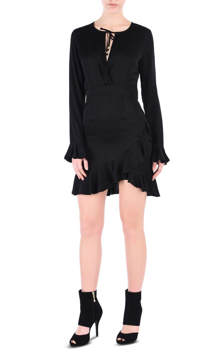 JUST CAVALLI All-black mini dress Short dress Woman f