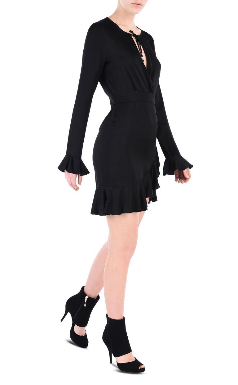 JUST CAVALLI All-black mini dress Short dress Woman r