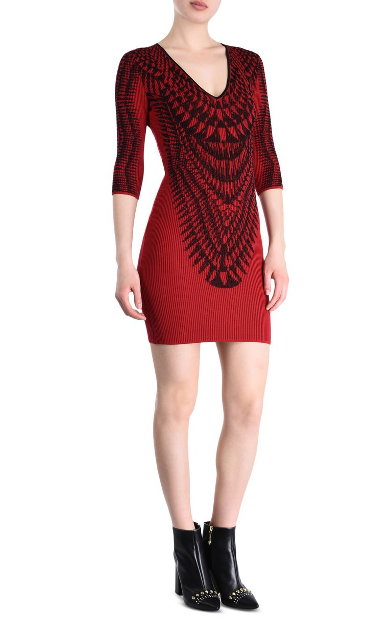 JUST CAVALLI Red and black sheath dress Short dress [*** pickupInStoreShipping_info ***] f