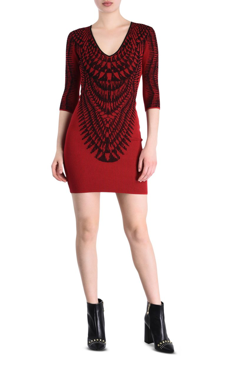 JUST CAVALLI Red and black sheath dress Short dress [*** pickupInStoreShipping_info ***] r