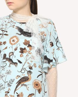 REDValentino Flora-and-fauna print silk dress